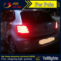 Car Styling Tail Lights For VW Volkswagen Polo 2011 2016 Taillights LED Tail Lamp Rear Trunk