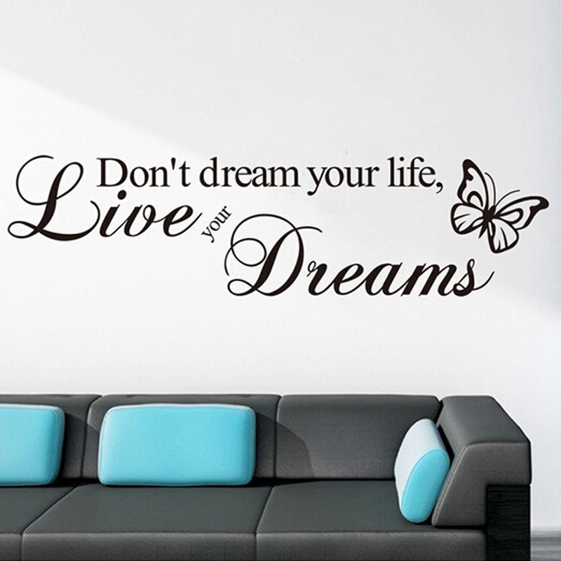 Removable Art Vinyl Quote Word DIY Wall Sticker Decal Mural Home - Custom vinyl wall decals logo   how to remove