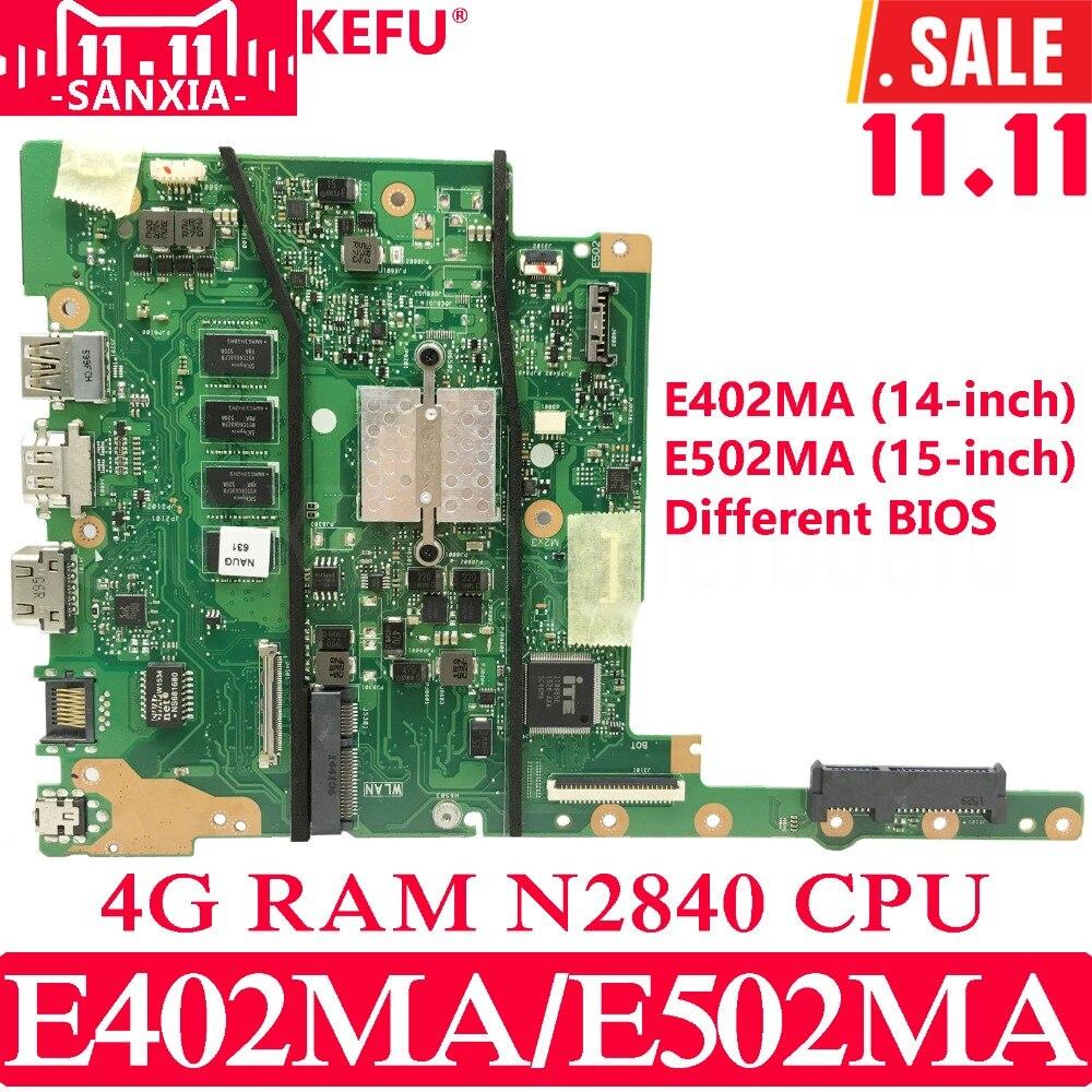 все цены на KEFU E402MA E502MA Laptop motherboard for ASUS E402MA E502MA E402M E502M E402 E502 Test original mainboard 4G RAM N2840 онлайн