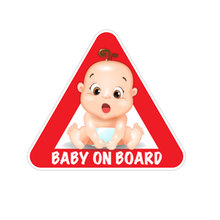 Baby on Board Car Sticker PVC Funny Cartoon Products Automob