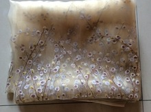 Sheer curtain fabric wholesale / color chiffon 5 meters one lot