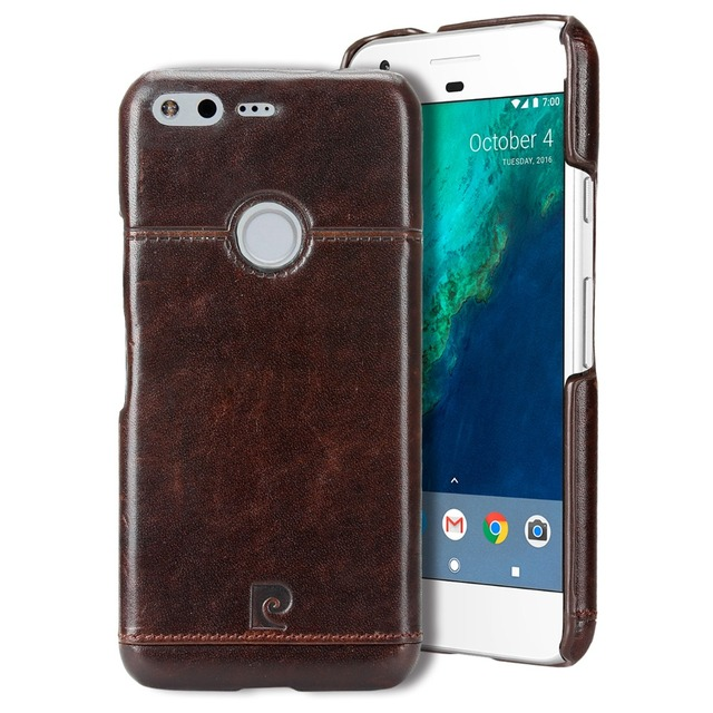 online store c321a d751e US $16.87 25% OFF Pierre Cardin Original Genuine Leather Back Cover for  Google Pixel 5.0'' / Pixel XL 5.5'' Phone Case Protector Coque Capinha -in  ...