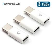 Portefeuille 3PCS Adattatore Micro USB A USB di Tipo c Per Xiaomi Samsung Huawei P20 Lite Honor10 Compagno di 20 Pro adattatore OTG Convertitore