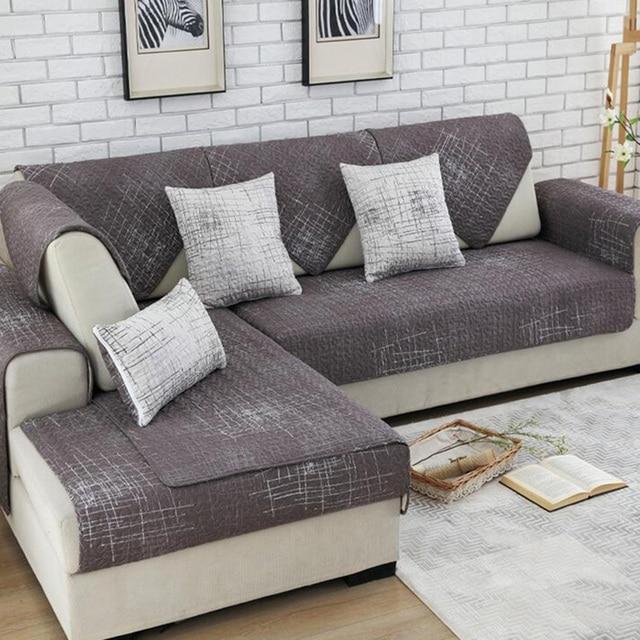 100% Cotone Copridivano divano Set Componibile Copertura Antiscivolo ...