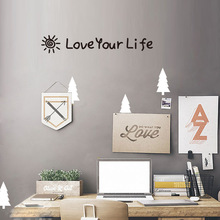 Dream home KWK203 selling English sentences carved wall stickers bedroom living room decoration The Wall
