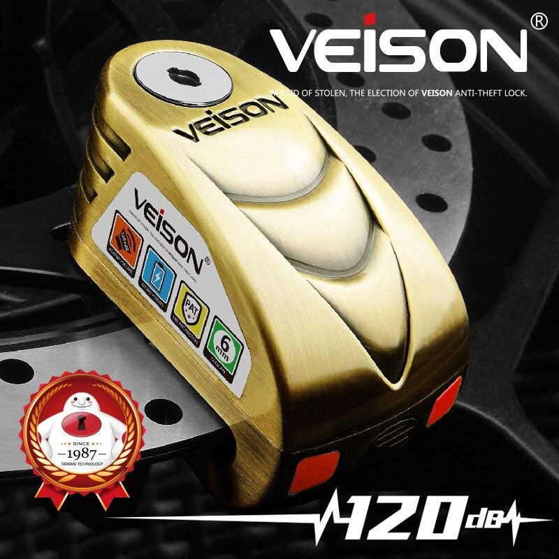 VEISON 120dB Motorcycle Alarm Lock Safety Anti Theft Bike Wheel Disc Lock Alarma Moto Scooter MTB Warning Security Brake Lock