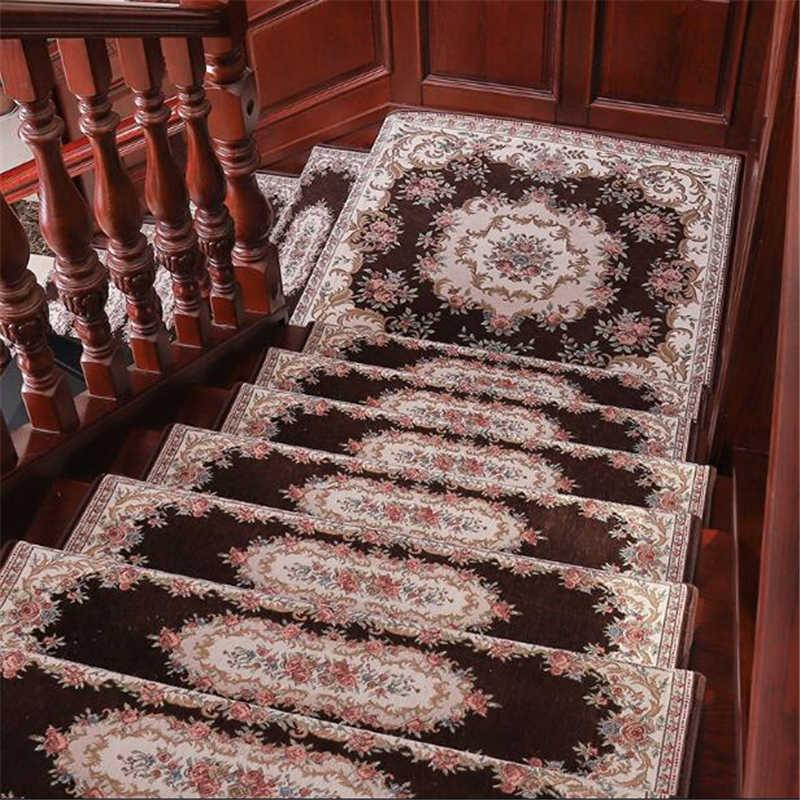 Beibehang 13 Pcs New Square Tangga Langkah Mat Lem-Gratis Self-Adhesive Non-slip Tikar Ruang Tamu koridor Karpet Tikar Bisa Custom