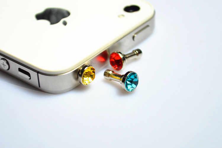Shinning צבעוני יהלומי 3.5 Mm אוזניות תקע אוזניות חור תקע Dustproof אוניברסלי נייד טלפון אוזניות עבור Iphone Huawei