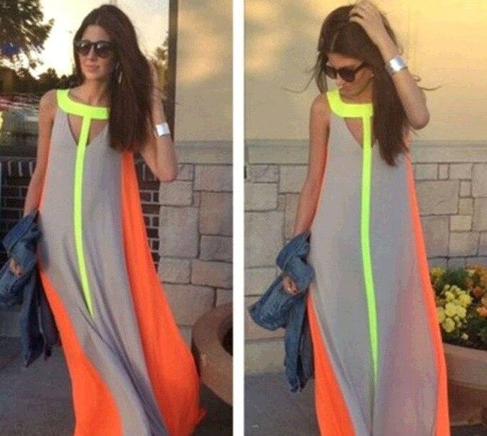 c2759a1fb 2016 Nuevo Verano de gasa sin mangas Vestidos moda vestidos vintage ...