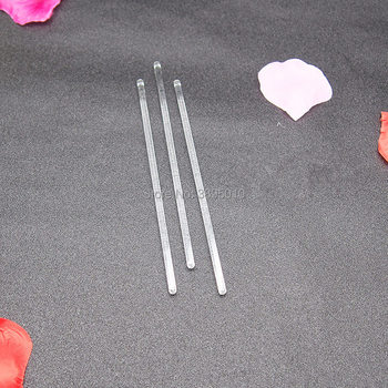 Transparent Glass Buret Stirring Rod Stirrer Mixer Glass Burette Bar 15cm Lab Experimental Equipment F985