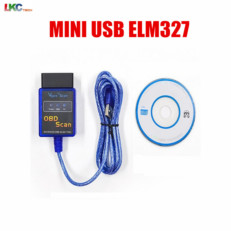 2018 High Quality New MINI USB ELM 327 OBD2 OBD Diagnostic Tool OBDII ELM327 V1.5 Code Scanner