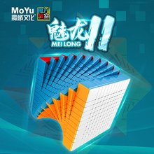 MOYU Meilong Stickerless 11*11*11 קסם קוביות מהירות פאזל 11 שכבות קוביית Antistress מתנת צעצועים חינוכיים cubo magico 90mm