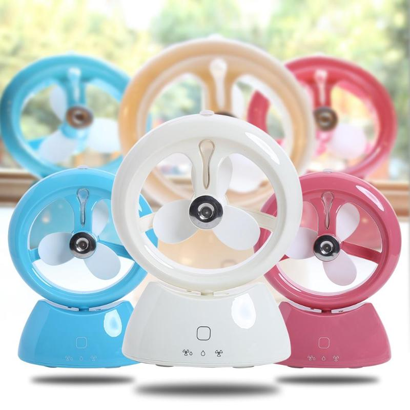 Mini water spray humidifier fan USB small Cooling fan water wizard spray Touch Switch Rechargable Mist Ventilador Office Home