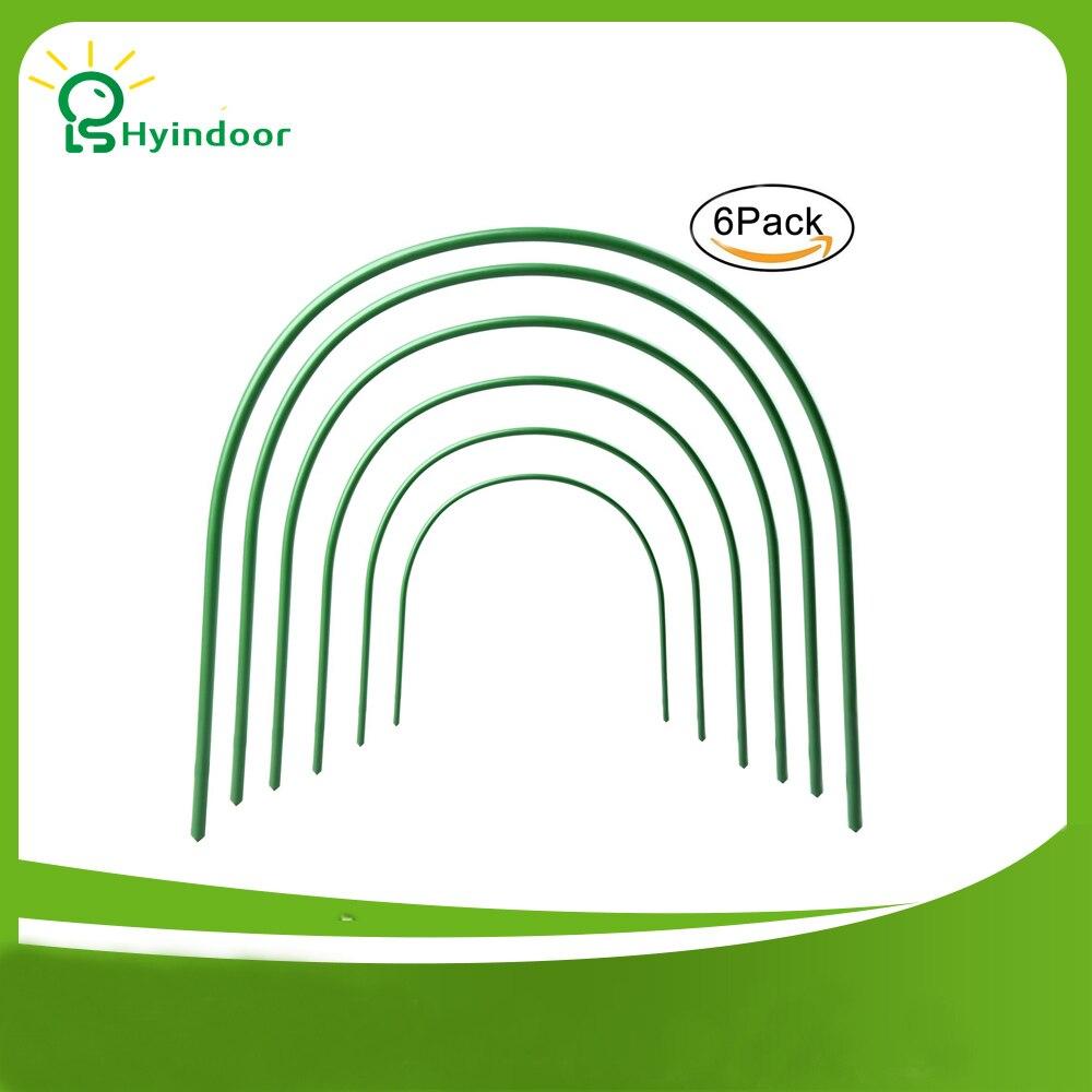 Hyindoor 4ft long En Acier avec En Plastique Enduit Cerceaux Cerceaux À Effet de Serre Tunnel de Culture Arceaux de Support pour Jardin Tissu 6 Pcs