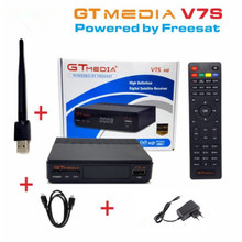 Freesat V7s GTMEDIA V7S DVB-S2 1080P HD Satellite TV Receiver with Youtube Youporn PowerVU CCaam Newcamd Bisskey RT5370 USB Wifi