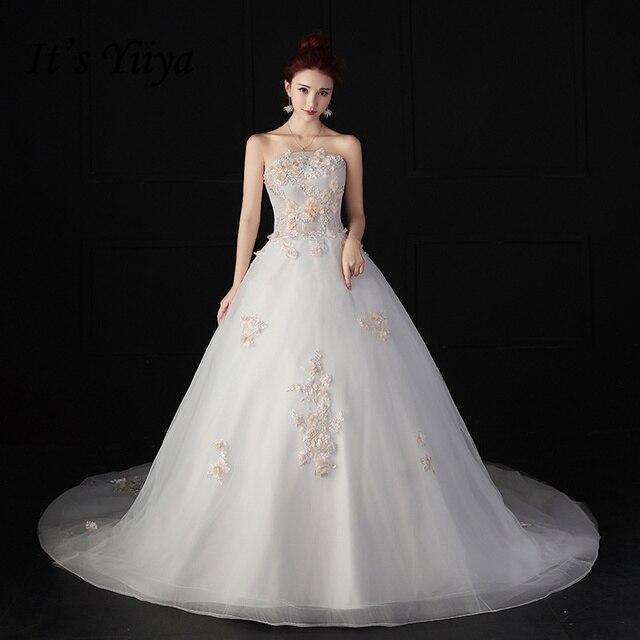 It\'s YiiYa Off White Sales Strapless Vestidos De Novia Wedding Frock ...