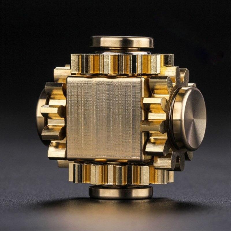 Fingertip gyro getriebe verknüpfung cube reinem kupfer finger mechanische gyro erwachsene dekompression spielzeug geschenk handwerker gefühle