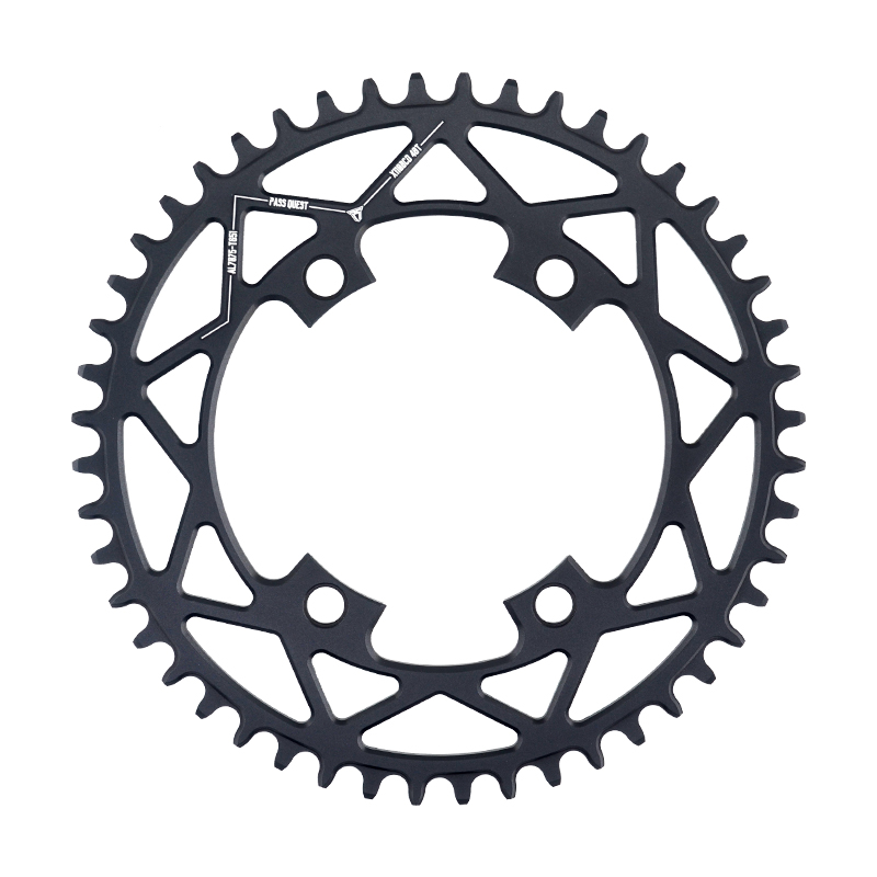PASS QUEST Round Road Bike chain wheel crankshaft 110BCD 40T 52T Narrow Wide Chainring For R2000