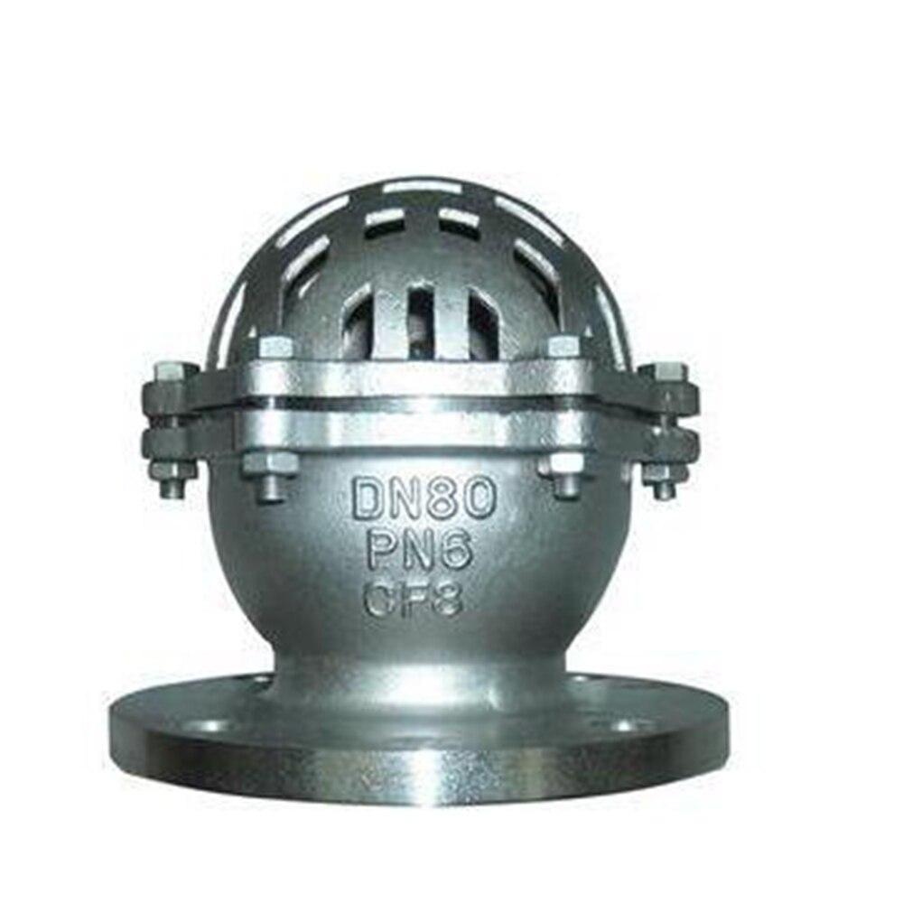 DN40 - DN300 stainless steel flanged bottom valve H42W-10P water pump water inlet valve suction valve bottom pumping valve new scv valve suction control valve 294200 0370 2942000370