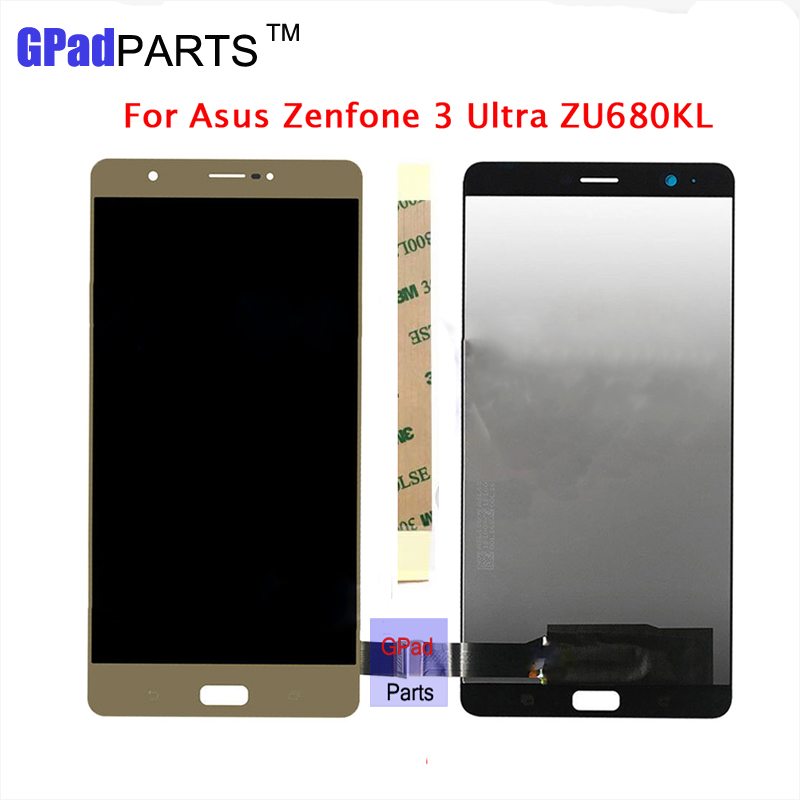 6.8 inch Full New LCD For Asus Zenfone 3 Ultra ZU680KL LCD Display Monitor +Digitizer Touch Panel Screen Glass Assembly+Adhesive