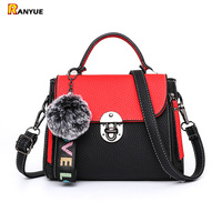 Panelled Women Bag Small Flap Shoulder Messenger Crossbody Bags For Women Tote Pu Leather Woman Handbags