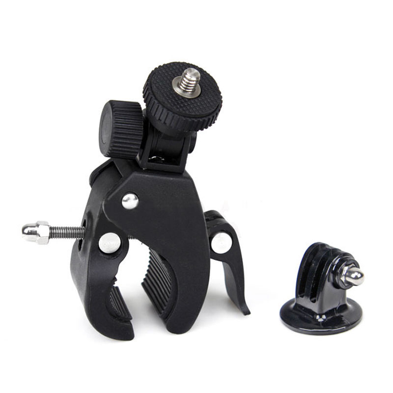 Mayitr Black Motorcycle Bike Camera Handlebar Mount Holder With Tripod Mount Adapter for Gopro Hero Camera
