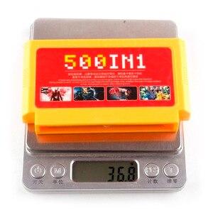 Image 3 - 500 في 1 بطاقة الألعاب الجيب الكلاسيكية 8 بت وحدة التحكم كبير الأصفر سوبر لعبة خرطوشة ميجا عربة جمع ل 60 دبابيس ألعاب لاعب