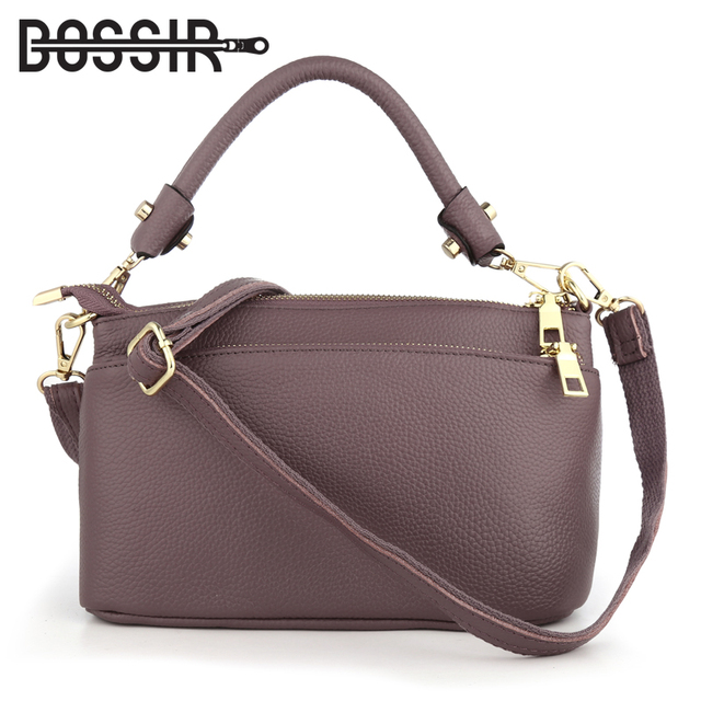 Женская маленькая сумка через плечо из натуральной кожи, Модный повседневный мессенджер через плечо, Женский тоут с 3 карманами на молнии