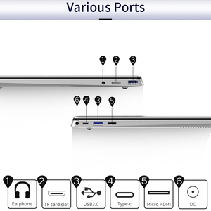 """Image 5 - ジャンパー EZbook X4 Pro のラップトップ 14 """"Fhd ディスプレイインテルコア i3 5005U 8 ギガバイト 256 ギガバイトの SSD ノートブックデュアルバンド wifi 勝利 10 超薄型コンピュータ"""
