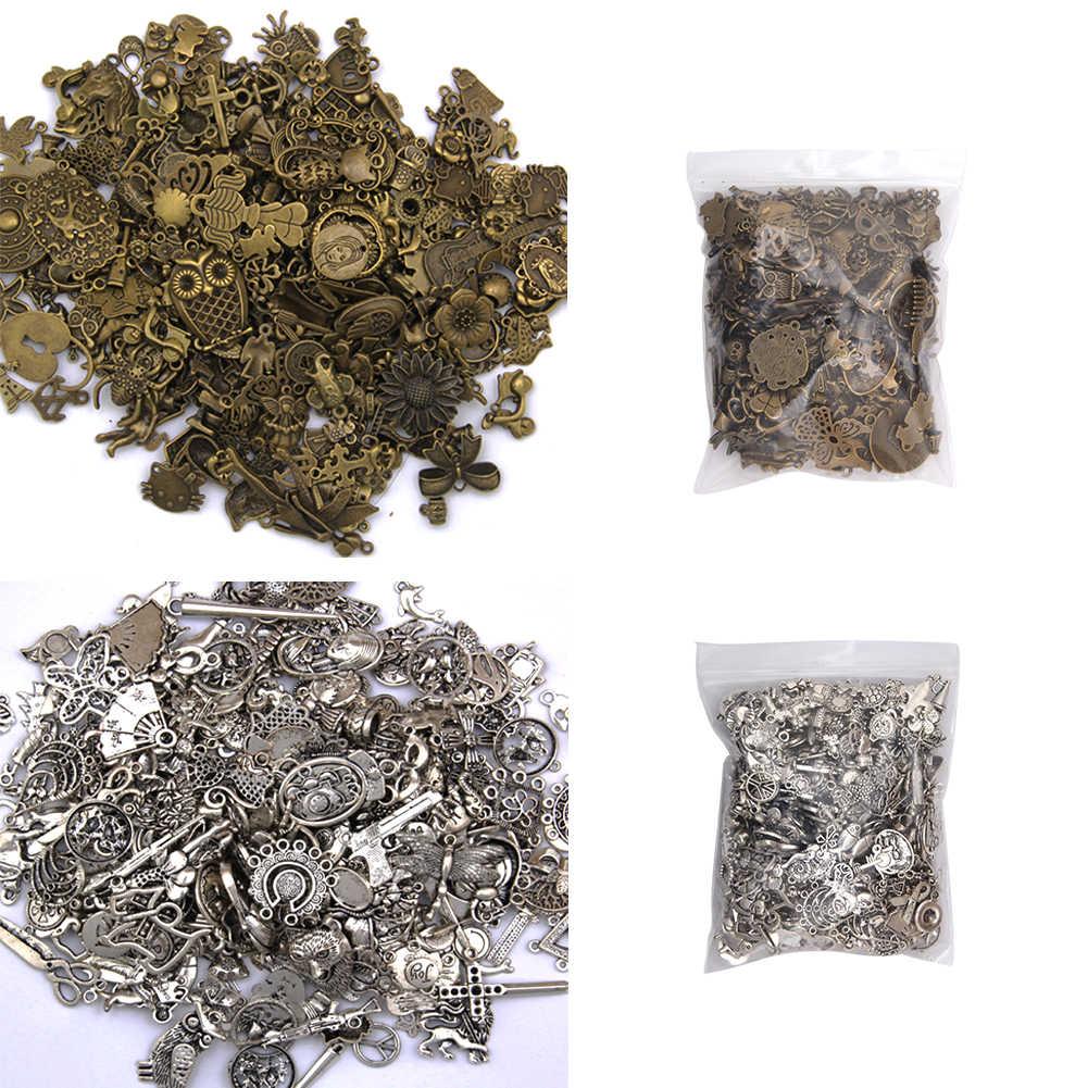 50-60g plata/bronce Steampunk DIY joyería antigua que hace colgantes mixtos artesanía encantos pulseras Vintage mezcla Accesorios conclusiones