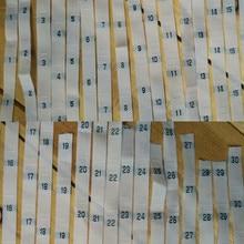 200 шт. белого цвета из полиэстера, номер 0, 1, 2, 3, 4 года, 5-28 29, 30, 31, 32, 33, 34, 35, 36, 37, 38-47 48 49 50 52 54 56 58 60 размер одежды этикетка