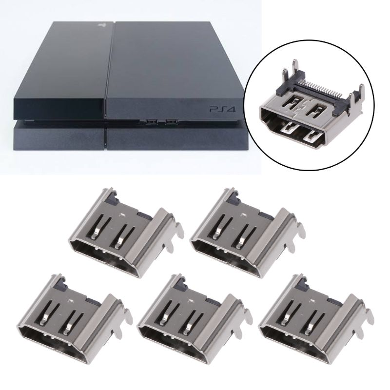 5Pcs Replacement Display HDMI Port Socket Jack Connector For PlayStation PS4 Pro Slim Console Port  5Pcs Replacement Display HDMI Port Socket Jack Connector For PlayStation PS4 Pro Slim Console Port