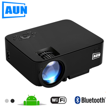 AUN Projecteur 1500 Lumens MINI Beamer (en option Android TV BOX/LED Android Projecteur Soutien KODI AC3) AM200 Série
