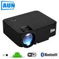 Aun proyector 1500 lúmenes mini proyector (opcional CAJA Androide de la TV/LED Soporte Proyector Androide KODI AC3) la Serie AM200