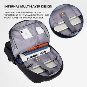 Image 2 - Business Laptop Backpack 14 15.6 inch Fashion Men Travel Back Pack Multifunction Nylon School Black Bagpacks For Teenagers