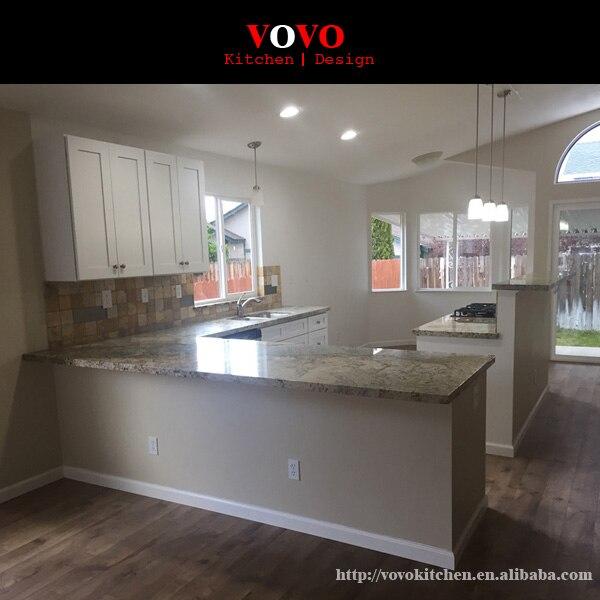 Customized Modern Quartz Stone Countertop Solid Wood Kitchen