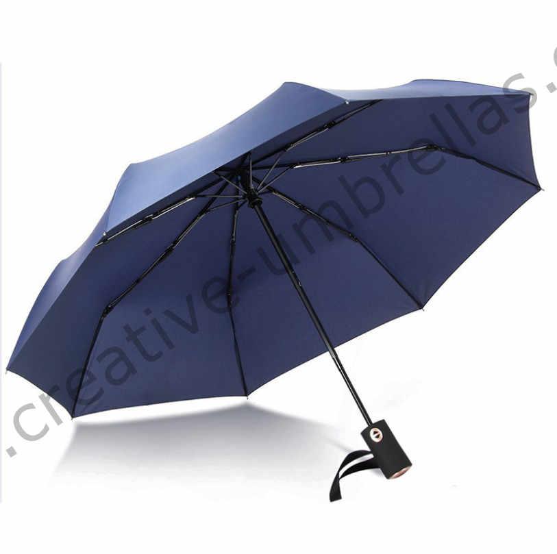 115 cm diamètre 2-3 personnes 75 T acier auto ouvert auto fermer trois fois anti-tonnerre coupe-vent parapluie anti-huile entreprise parasol