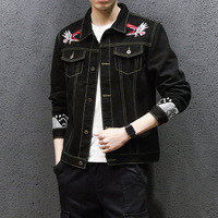 2018 Fashion Embroidery Men S Denim Jackets Korean Version Slim Jacket With Pockets Larger Size 5XL