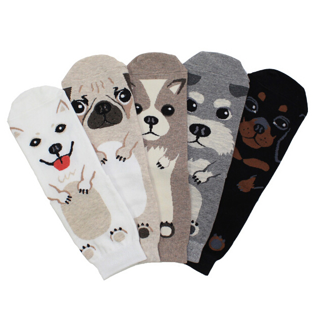 Adult Size Pets Crew Socks Ankle Short Puppy Doberman Corgi Dachshund Sausage Dog Pug Doge Papillon Cute Collie Husky Schnauzer lps 325 black dachshund dog chien teckel puppy sausage