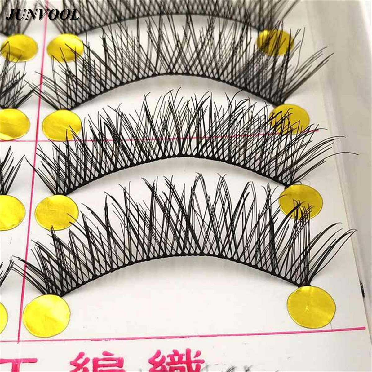 10 Pairs Handmade False Eyelashes Thick Black Cotton Stretch Fake False Eyelash Lashes Makeup Tips Natural Fake Eye Lash