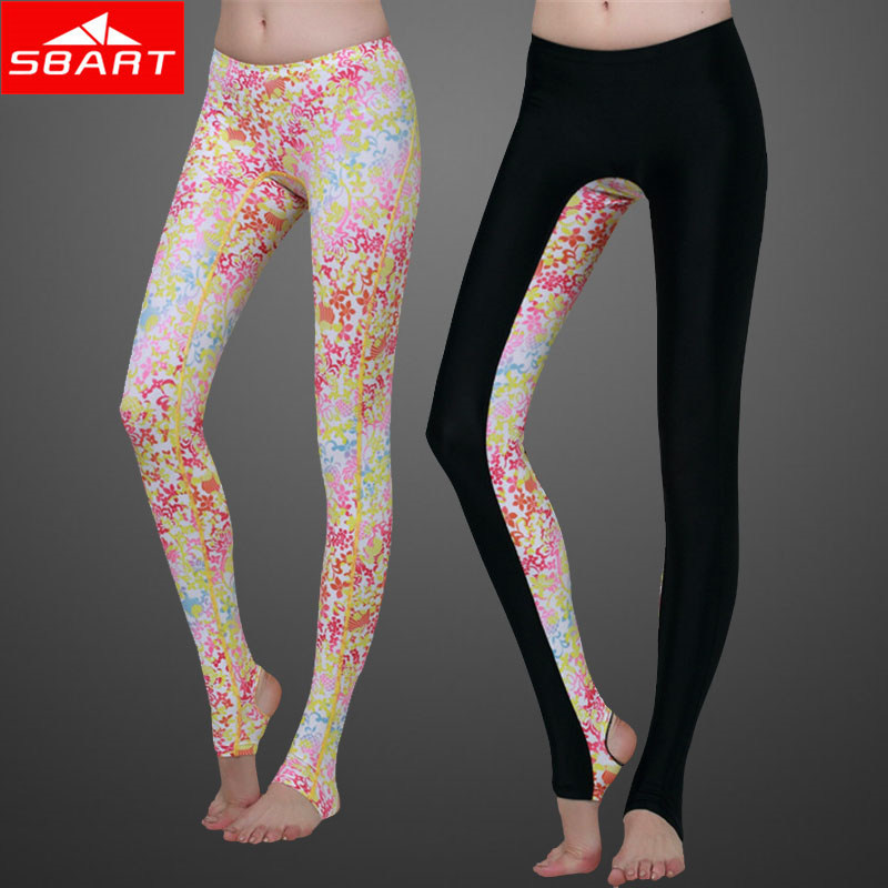 SBART Rashguard Women Lycra Surf Pants Floral Print Rash
