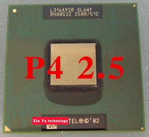 Lifetime warranty Pentium 4-M 2.5 GHz Notebook processors Laptop CPU 400MHz Computer Original authentic