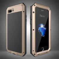 R JUST Luxury Doom Armor Dirt Shock Life Waterproof Metal Aluminum Phone Bags Case For Iphone
