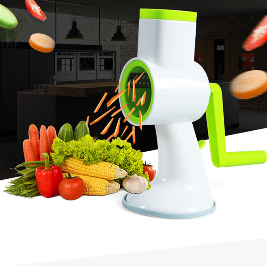 2018 kitchen Multifunctional Manual Cutting Shredder Device Roller Cutter Vegetables Cutter tools #0412