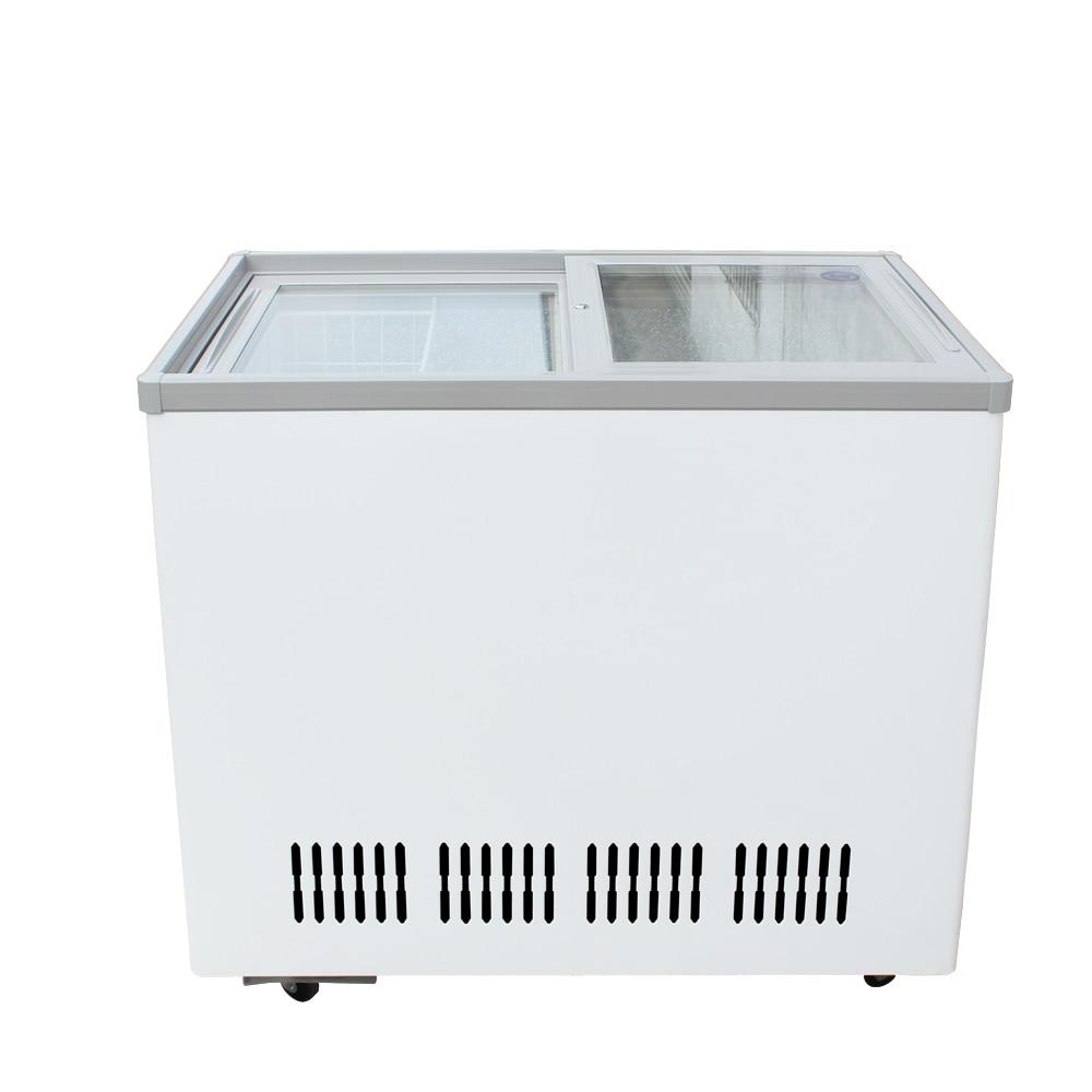 Glass Door Ice Cream Chest Deep Freezer Commercial Refrigerator Beer