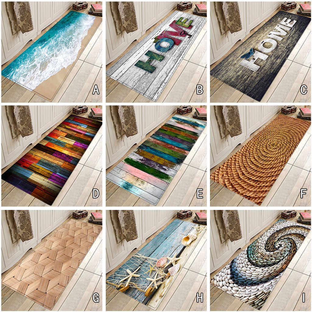 40X120 CM 9Types Scenic Carpet Hallway Doormat Anti - Slip  Carpet Absorb Water Kitchen Mat/40