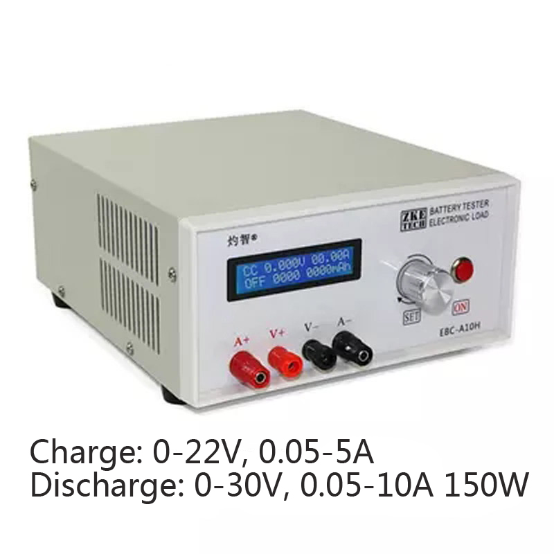 Battery Capacity Charge Discharge Tester 30V 5-10A 150W Electronic Load Mobile Power Head Test Online Computer Software EBC-A10H ebc a05 electronic load mobile power battery capacity test 5v output computer on line battery tester battery testing power