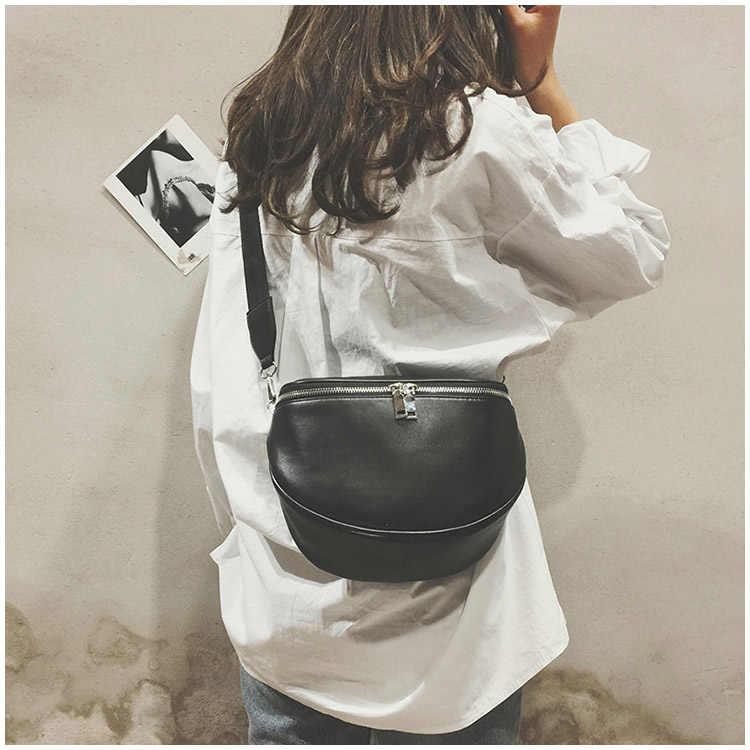 Mulheres Zipper Bolinho Forma bolsa de Ombro Ocasional Saco PU de Couro Simples de Alta Qualidade Sólidos Sacos Do Mensageiro Famosas Bolsas Mensageiro