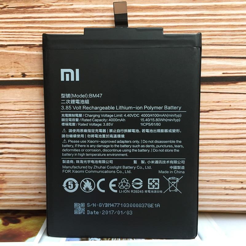 New 4000mAh BM47 Battery For Xiaomi Redmi 3S For Redrice Hongmi 3 Redmi 3X Redmi 4X Hongmi 3 S Bateria Baterie AKKU