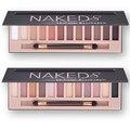 Naked paleta da sombra de maquiagem à prova d' água 12 cores brilho brilho maquiagem cores naked paleta de pigmentos da sombra profissional